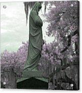 Ziba King Memorial Statue Side View Florida Usa Near Infrared Gr Acrylic Print