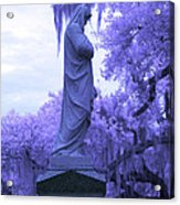 Ziba King Memorial Statue Side View Florida Usa Near Infrared Acrylic Print