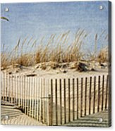 Zig Zag Beach Acrylic Print