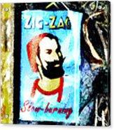 Zig Zag Double Wide Acrylic Print