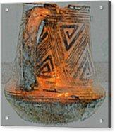 Zigzag Mug With Handle Acrylic Print