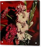 Zinnias And Gladiolas Acrylic Print