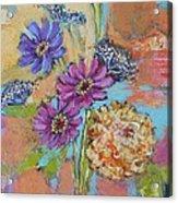 Zinnias From The Garden Acrylic Print