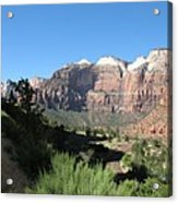 Zion Canyon View Acrylic Print