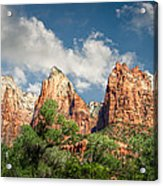 Zion Court Of The Patriarchs Acrylic Print