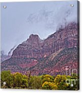 Zion In Clouds Acrylic Print
