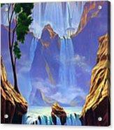 Zion Acrylic Print by Jeff Haynie
