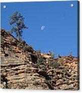 Zion National Park Moonrise Acrylic Print