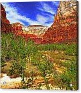 Zion Park Canyon Acrylic Print