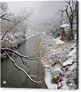 Zion's Virgin River Acrylic Print
