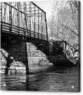 Zoar Iron Bridge Acrylic Print