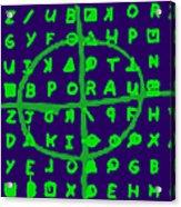 Zodiac Killer Code And Sign 20130213p128 Acrylic Print