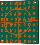 Zodiac Killer Code And Sign 20130213p28 Acrylic Print by Wingsdomain Art and Photography