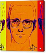 Zodiac Killer Three With Sign 20130213 Acrylic Print by Wingsdomain Art and Photography