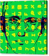 Zodiac Killer With Code And Sign 20130213 Acrylic Print by Wingsdomain Art and Photography