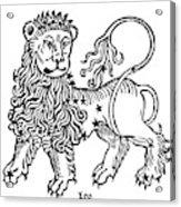 Zodiac Leo, 1482 Acrylic Print