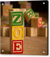 Zoe - Alphabet Blocks Acrylic Print