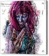 Zombie Want You Acrylic Print