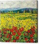 Zone Des Fleur Acrylic Print