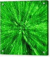Zoom In Green Acrylic Print