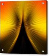 Zoom Orange Yellow Acrylic Print