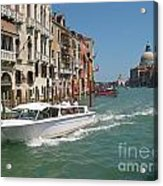 Zooming On The Canals Of Venice Acrylic Print