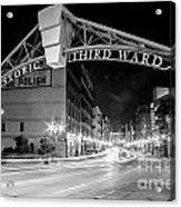 Zooming Past Historic Third Ward Acrylic Print