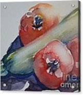 Zucchini And Tomatoes Acrylic Print