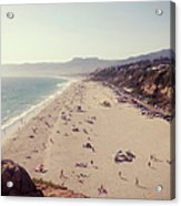 Zuma Beach At Sunset Malibu, Ca Acrylic Print