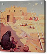Zuni Pottery Maker Acrylic Print by William Robinson Leigh