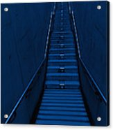 A Long Narrow Flight Of Stairs Acrylic Print by Lawren Lu