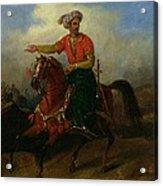 An Ottoman On Horseback  Acrylic Print