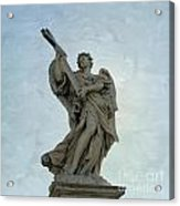 Angel With Cross. Ponte Sant'angelo. Rome Acrylic Print