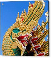 Asian Temple Dragon   Acrylic Print by Panyanon Hankhampa