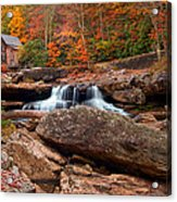 Autumn Leaves At The Mill Acrylic Print