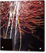 Bastille Day Fireworks Acrylic Print by Sami Sarkis