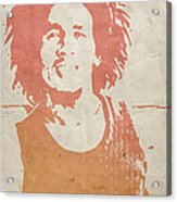 Bob Marley Brown Acrylic Print by Naxart Studio