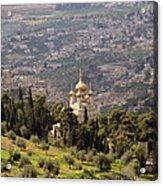 Church Of St Mary Magdelen Mount Of Olives  Jerusalem Acrylic Print