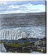 Detifoss Waterfall In Iceland - 01 Acrylic Print