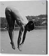 Dive Lake Jump  In The Late  Ninetieth  Acrylic Print