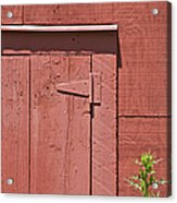 Faded Red Wood Barn Wall Acrylic Print
