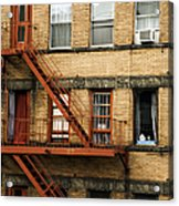 Fire Escapes - Nyc Acrylic Print