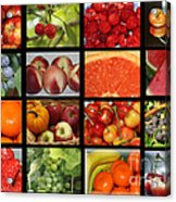 Fruits Collage Acrylic Print