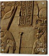 Karnak Egypt Hieroglyphics Acrylic Print