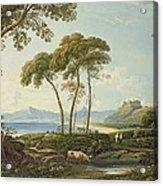 Landscape With Harlech Castle Acrylic Print