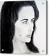 Liz Taylor Portrait Acrylic Print