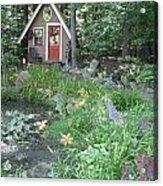 Magic Garden Pond Acrylic Print