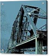 Mississippi River Rr Bridge At Memphis Acrylic Print