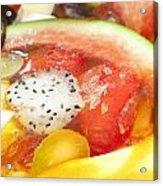 Mixed Fruit Watermelon Acrylic Print by Anek Suwannaphoom