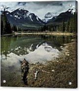 Muleshoe Pond Reflection Banff Acrylic Print